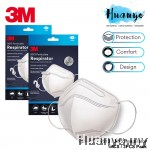 3M KN95 9513 5 Layers Respirator Griffin White Face Medical Mask (1 / 3 pcs Pack) - Adjustable Electrostatic Particle Filtration Tight Fitting Mask