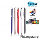 2 in 1 Stylus Capacitive Metal Barrel Ballpoint Pen for Touch Screen Android Smartphone/Tablet/iPhone/iPad (Black Ink)