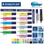 Staedtler Textsurfer Pastel, Vintage & Classic Fluorescent Neon Highlighter Textliner/ Black Hidelighter (Per PCS)