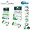 Faber-Castell Erasure PVC Free Dust Free Green Eraser (Environment Friendly & Green Packaging) [Per PCS / Set of 2/3]