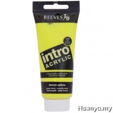 Reeves Intro Acrylic Colour 120ML (Lemon Yellow)
