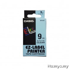 Casio EZ-Label Tape Cartridge 9mm - Clear