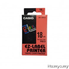 Casio EZ-Label Tape Cartridge 18mm - Red