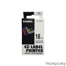 Casio EZ-Label Tape Cartridge 18mm - White