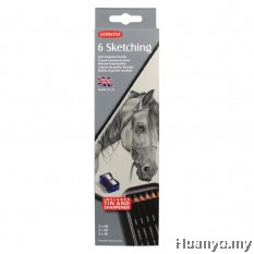 Derwent 6 Sketching - Soft Graphite Pencils