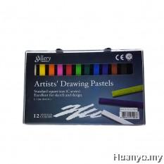 Mungyo Artists' Drawing Pastels 12 (C-12A) - Basic Colour