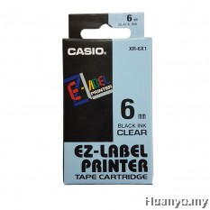 Casio EZ-Label Tape Cartridge 6mm - Clear
