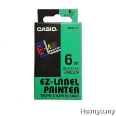 Casio EZ-Label Tape Cartridge 6mm - Green