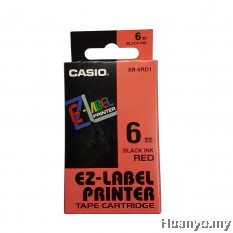Casio EZ-Label Tape Cartridge 6mm - Red