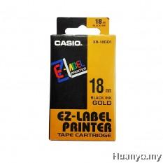 Casio EZ-Label Tape Cartridge 18mm - Gold