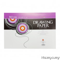 CAMPAP Drawing Paper 165GSM A3 Size (20Sheets/Pack)