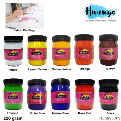 D'Arte Fabric Paint Colour Dye 220 Gram (Per Bottle)