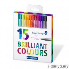 Staedtler Triplus Fineliner Heart 0.3mm (Set of 15 Colours)