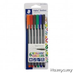 Staedtler Triplus Fineliner 0.3mm - Primera (Set of 6 Colours)