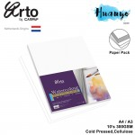 Campap Arto Netherlands Watercolour Painting Paper A4 / A3 - 300gsm/10pcs Pack (Cellulose, Medium Surface, Purple Cover)