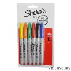 Sharpie Permanent Marker Fine (Colors of 6 - Set 1)