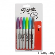 Sharpie Permanent Marker Fine (Colors of 6 - Set 2)