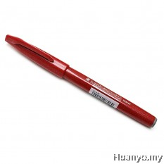 Pentel Fude Touch Brush Sign Pen - Red