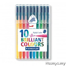 Staedtler Triplus Colour Fiber Tip Pens (Colours of 10)