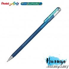 Pentel Hybrid Dual Metallic Gel Pen (Blue and Metallic Green)