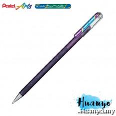 Pentel Hybrid Dual Metallic Gel Pen (Violet and Metallic Blue)