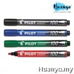 Pilot Permanent Marker 100 Fine (Black, Blue, Red, Green)