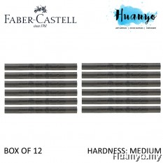 Faber-Castell PITT Compressed Charcoal (Medium) - Box of 12