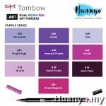 Tombow Dual Brush Pen Purple Shades (10 Colours)