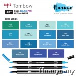 Tombow ABT Dual Tips Drawing & Calligraphy Brush Pen - Blue Shades (15 Colours, Per PCS)
