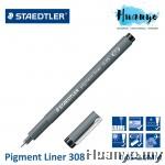 Staedtler Fineliner Pigment Liner 308 Sketch Drawing Technical Pen (0.05 - 2.0MM)