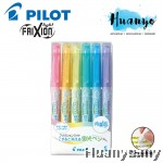 Pilot FriXion Light Pastel Soft Color Erasable Highlighter - 6 Color Set