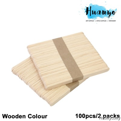 Wooden Popsicle Ice Cream Sticks - S (100pcs/2 packs)