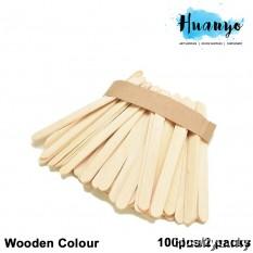 Wooden Popsicle Ice Cream Sticks - S (100pcs/2 packs)