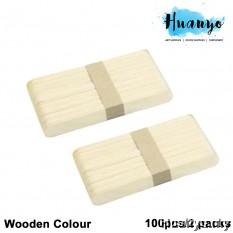 Wooden Popsicle Ice Cream Sticks - L (100pcs/2 packs)