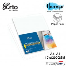 Campap Arto Netherlands WaterColour Painting Paper A4 / A3 200gsm/10's (Cotton,Medium Surface , Blue Cover)