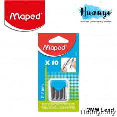 Maped Compass Leads (10 pcs) 2mm - Black