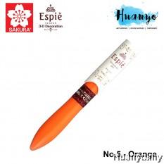 Sakura Espie 3D Decoration Marker Pen No.125- Orange